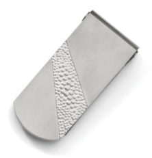 Titanium Pebble Textured Money Clip