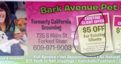 Bark Avenue Pet Salon in Forked River 609 971 9003